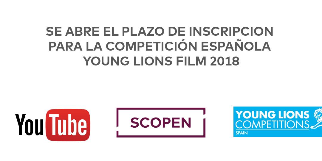 YouTube convoca la competición en España de Young Lions Film 2018